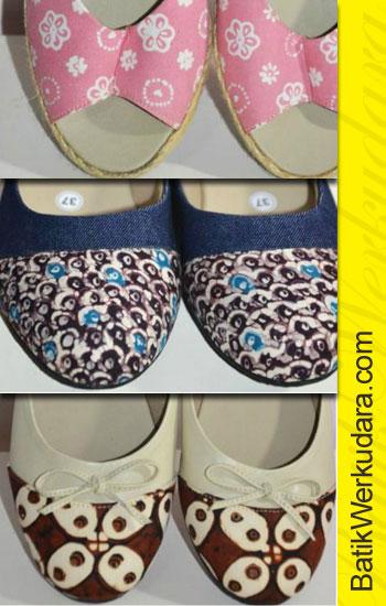 Jual Sepatu Batik Motif Jogja Murah  Hub Ibu Sita 085228218866